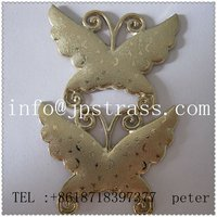 2012 the most fashionable newly style Hot fix rhinestuds;ghost shape hot fix studs
