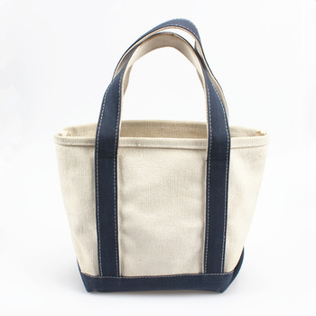 Daily Tote with Handles and Outside Pocket Heavy Duty Cotton Canvas Tote Bag