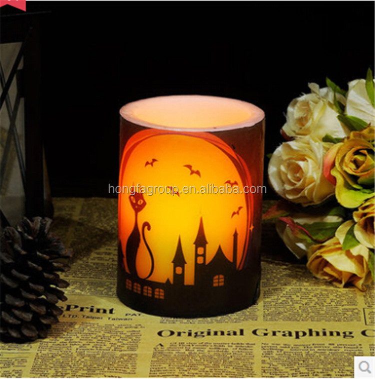 Halloween flameless candle wax halloween decoration buy for Decoration wax