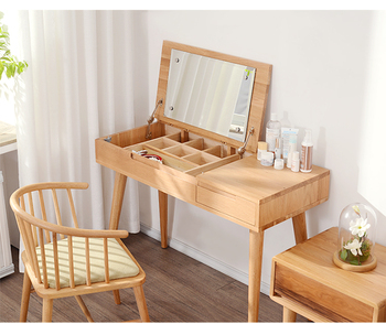 new arrivals d4488 3c653 Modern Noride Bedroom Oak Wood Dresser Simple Multifunctional Dressing  Table With Folding Mirror - Buy Simple Dressing Table With Mirror,Wooden ...