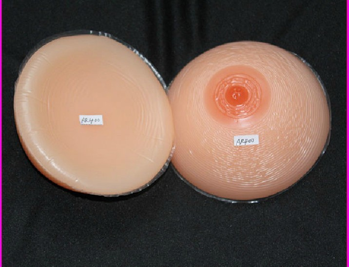 Free shipping fake breast silicone false boobs 1000g rubber chest pads for shemale or crossdresser wholesale