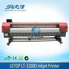 On Sales!! Letop 3200D dx5 dx7 print head double eco solvent printer 3.2meter width