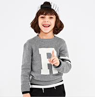 Sweater Kids Round Neck Children Sweaters Pullover Classic Knitwear 100%Cotton Jacquard Sweater in kids