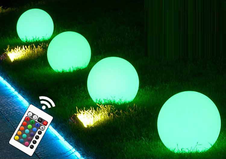 colour changing solar garden light/Wireless rechargeable Factory supply custom design Garden stone light for seat