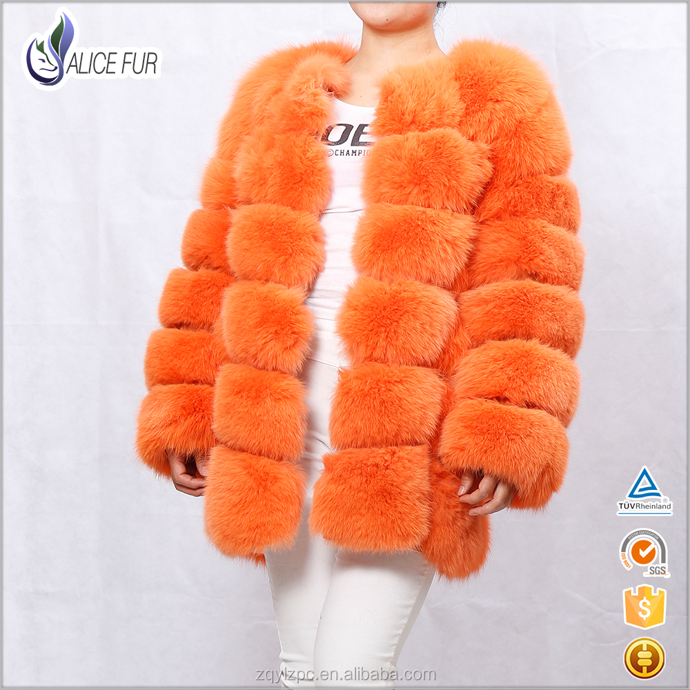 2016 New Ladies Blue Fox Fur Coat / Women Fashion Fox Fur Jacket
