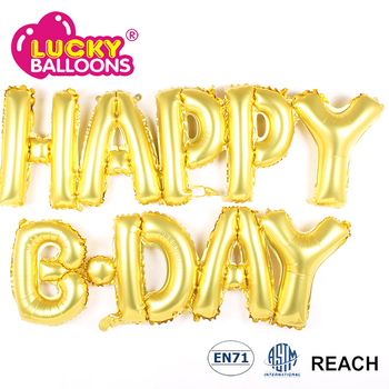 happy birthday love boy girl letter phrases foil balloons
