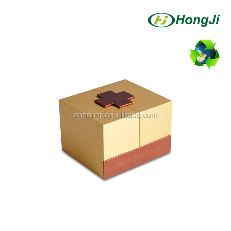 Duplex Magnet Closure Golden Color Deluxe Chocolate Paper Gift Box