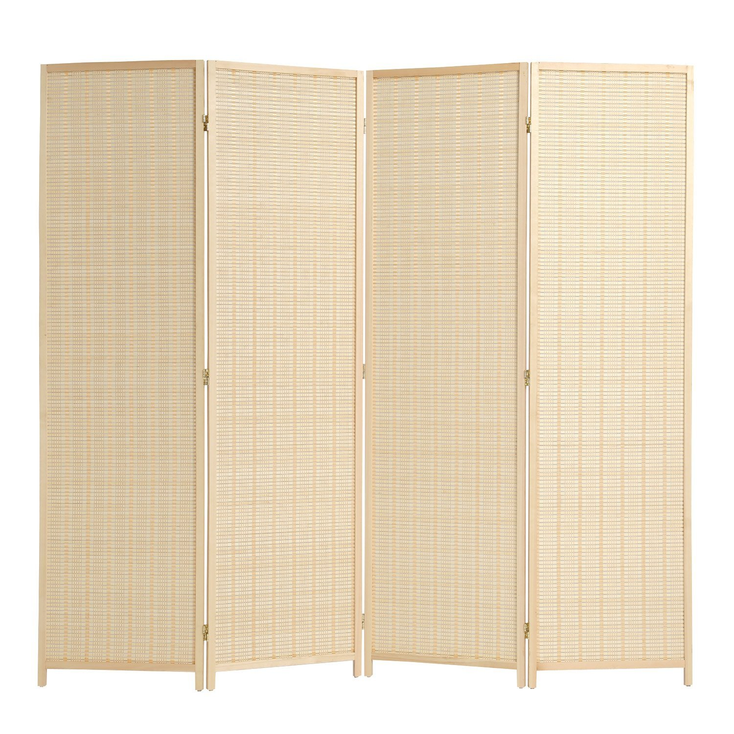 RHF 6 ft. Tal -Extra Wide-Beige Woven Bamboo&4 panel room divider/screen,room dividers and folding privacy screens 4 panel&Room dividers and folding privacy screens-Beige Bamboo 4 Panels
