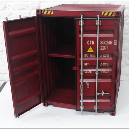 Custom Industrial Style Container Design Metal Storage Bar Cabinet