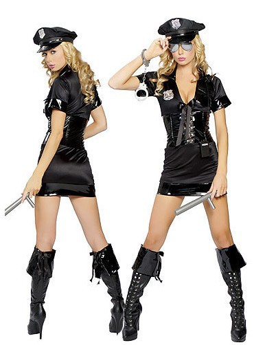 free shipping sexy police uniform costumes sexy good looking halloween women police cosplay costumes h1591093