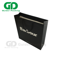 China Supplier Custom Design famous brand black handmade shopping Craft Paper packing Bag with your own logo