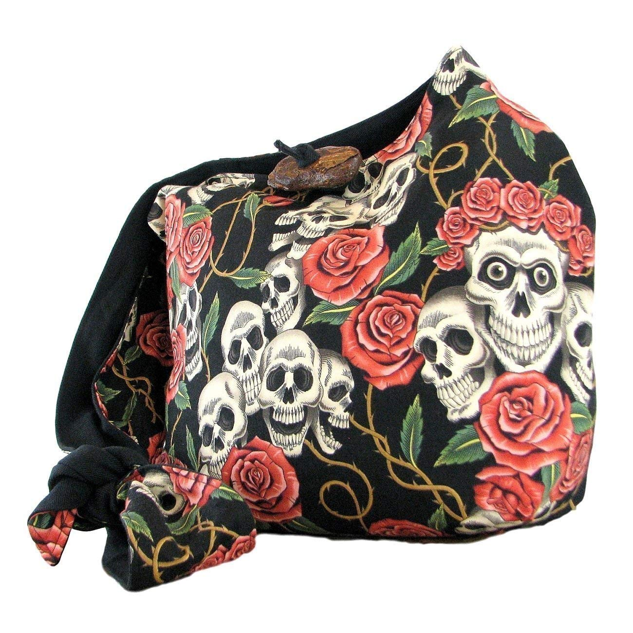 a35fc5b14c Get Quotations · Skull and Roses Crossbody Skull Purse for Women