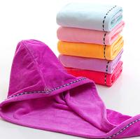 Magic hair drying towel hat microfiber hair turban bath wrap