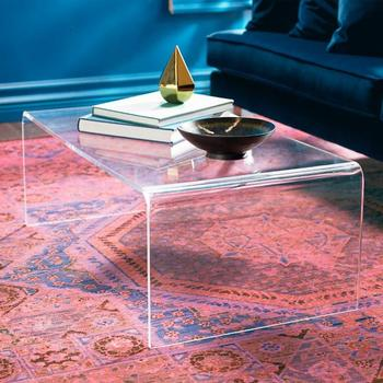 Plexiglass End Table Living Room Console Table Crystal Clear Acrylic ...