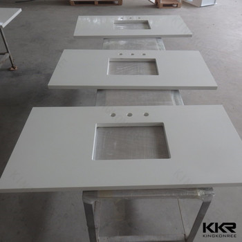 White Sparkle Quartz Stone Countertop / Solid Surface Countertop Slabs / Man  Made Granite Countertops