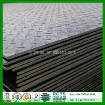 Ss400 A36 Q235 Q345 Hot Rolled Steel Checker Plate