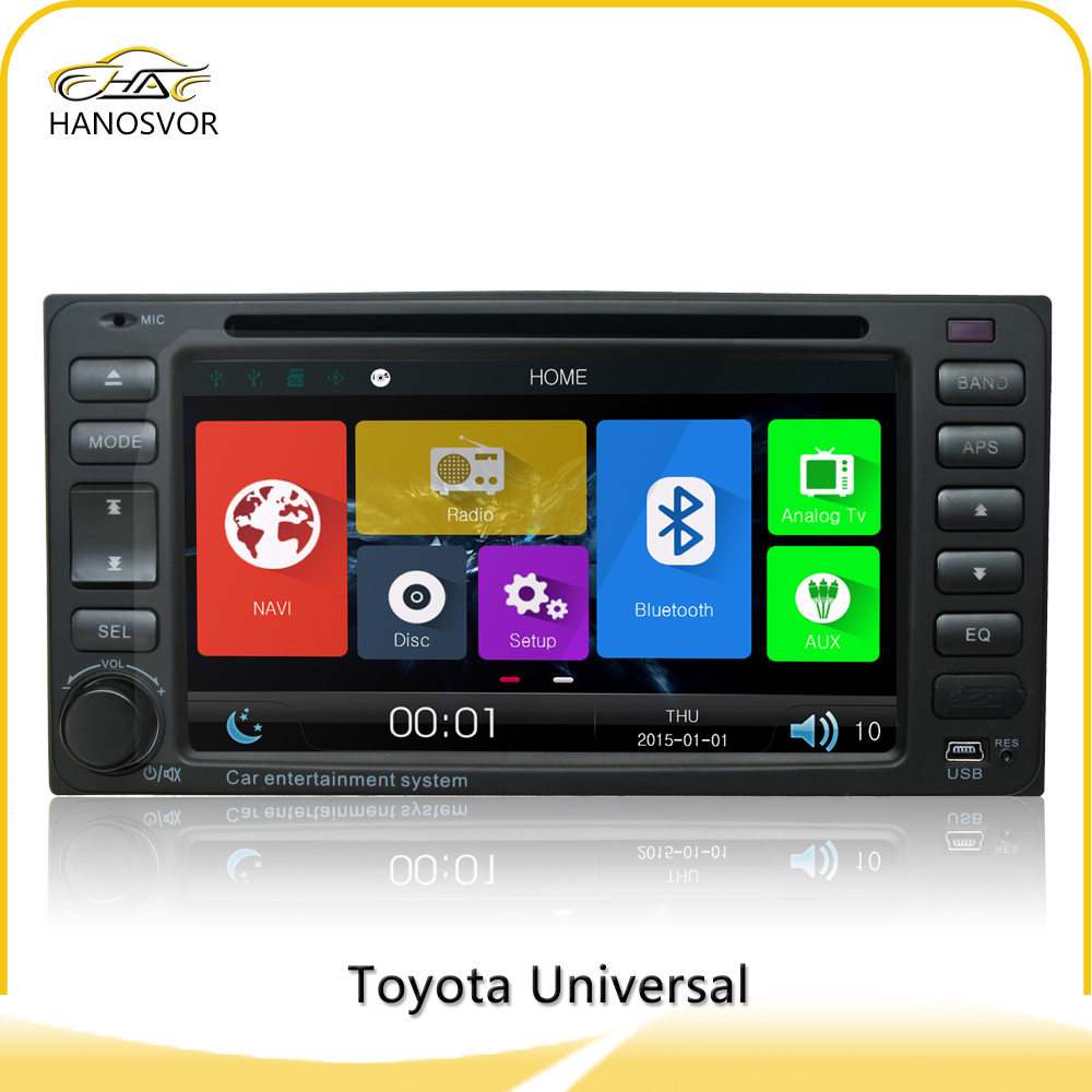 6.2 inch car gps navigation system radio cassette player for toyota