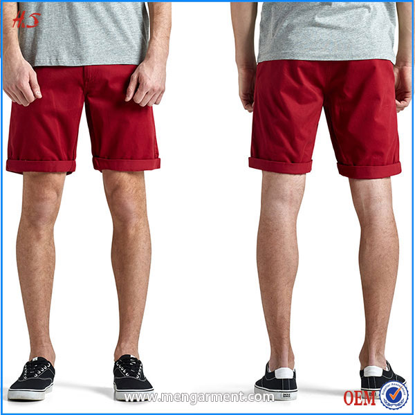 New 2016 Arrive Style Alibaba Trading Company International Latest Design For Men Bright Color Wine Red Quality Premium Shorts