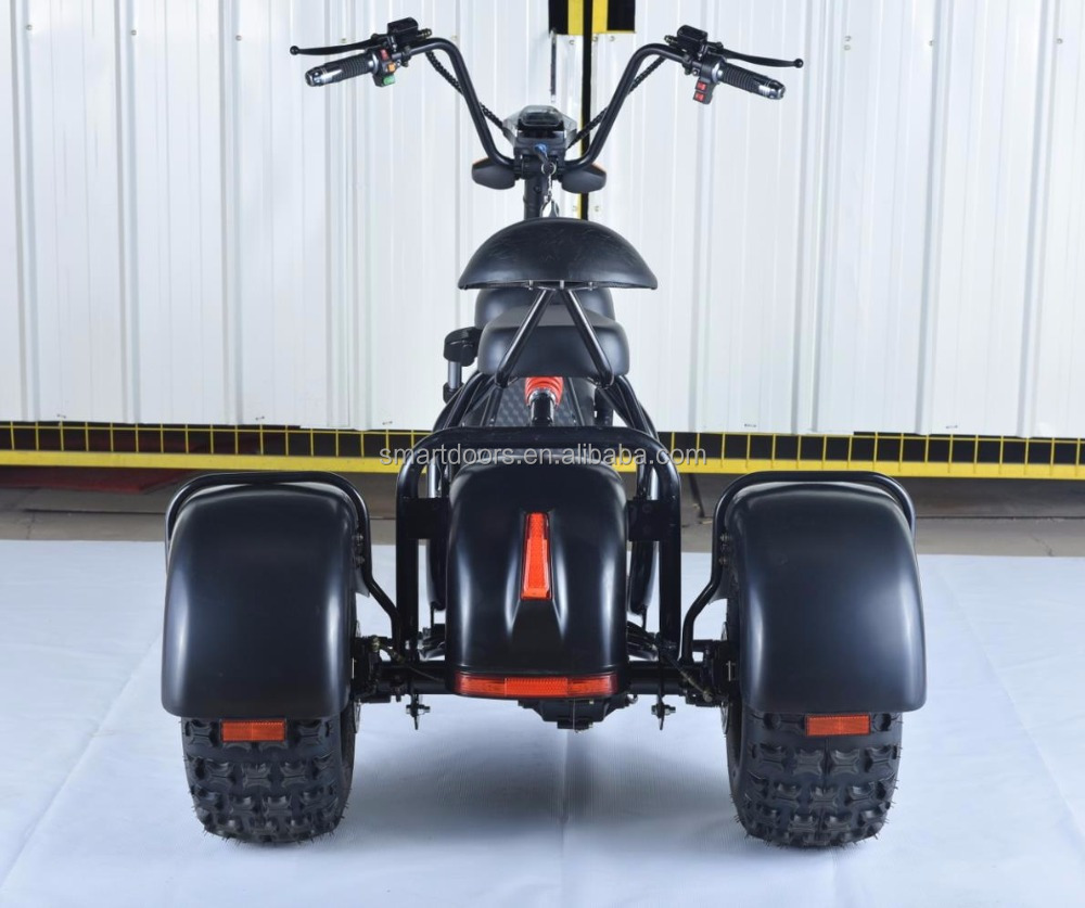Smarda harley 1000w scooter 3 wheels fat tire citycoco scooter 2017 popular