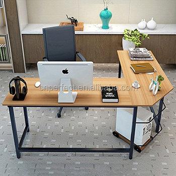 Vaak Moderne L-vormige Bureau Hoek Computer Bureau Pc Latop Studie &RV16