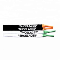 Custom Printed Shoe Laces With Silicone Tips Oval Flat Lace Swap Cotton Polyester Designs Shoelace