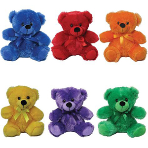 High quality Lovely custom plush gift toys colorful teddy bear