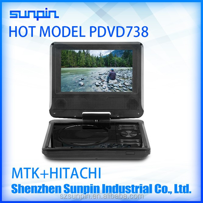 7 Inch Big Lots Portable DVD Player, Laptop DVD Player TV support USB SD MMC Card