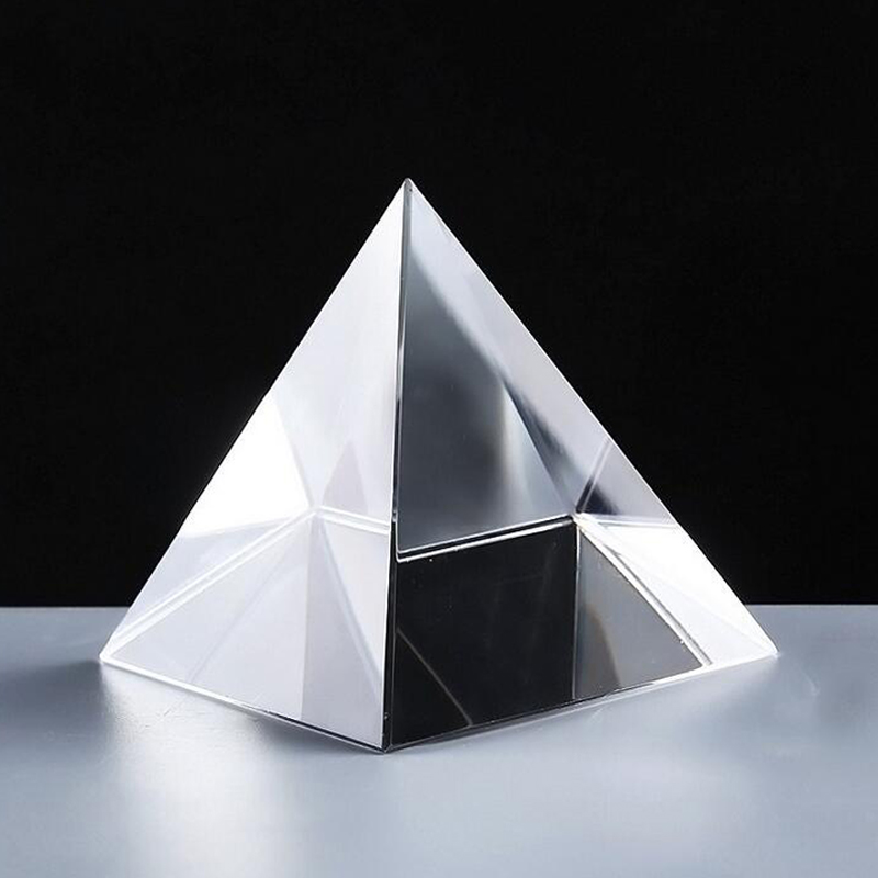 Promotional K9 High Quality Blank Crystal Glass Pyramid for Paperweights Gifts