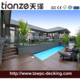 plastic wood Swimming Pool decking Outdoor Portable composite Decking wood stairs TZ140*25 Details