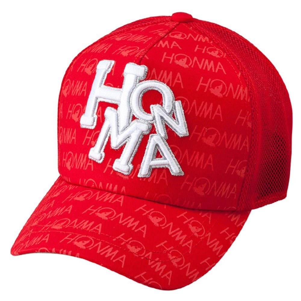 6fd8e1efc3e Get Quotations · Honma NEW 731-419603 Red White Adjustable Mesh Golf Hat Cap