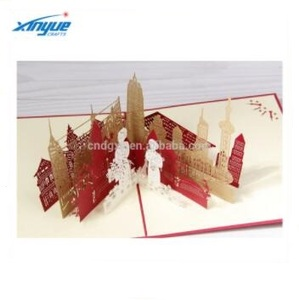 famous building handmade pop up card souvenir greeting 3D gift card
