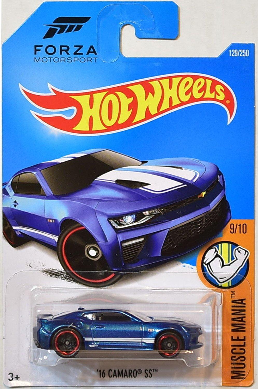 Hot Wheels, 2016Muscle Mania, Forza Motorsports '16 Camaro SS [Blue] 129/250