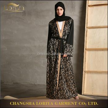 2017 Muslim Women Dress New Coming Fancy Design Wemen Wear Full Lace