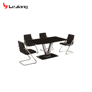 kitchen dining room furniture tempered glass dining table set