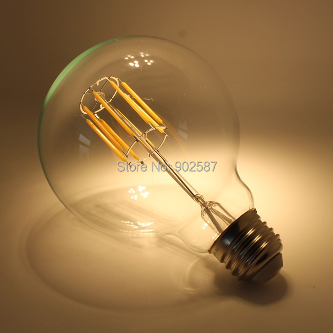 10pcs lot g125 g40 led filament bulb 8w 10w vintage edison led bulbs e27 e26 base ac220v 110v in. Black Bedroom Furniture Sets. Home Design Ideas