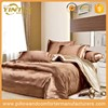 Gold silk bedding set