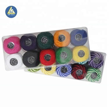 9s/2 colorful assorted china embroidery dyeable sewing thread