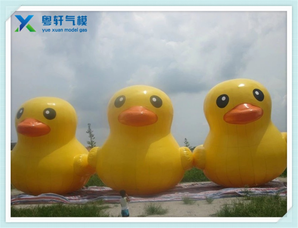 Giant inflatable promotion duck/inflatable giant outdoor advertising cartoon character