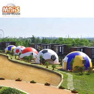 Quick assembled prefab fiberglass Mars dome houses