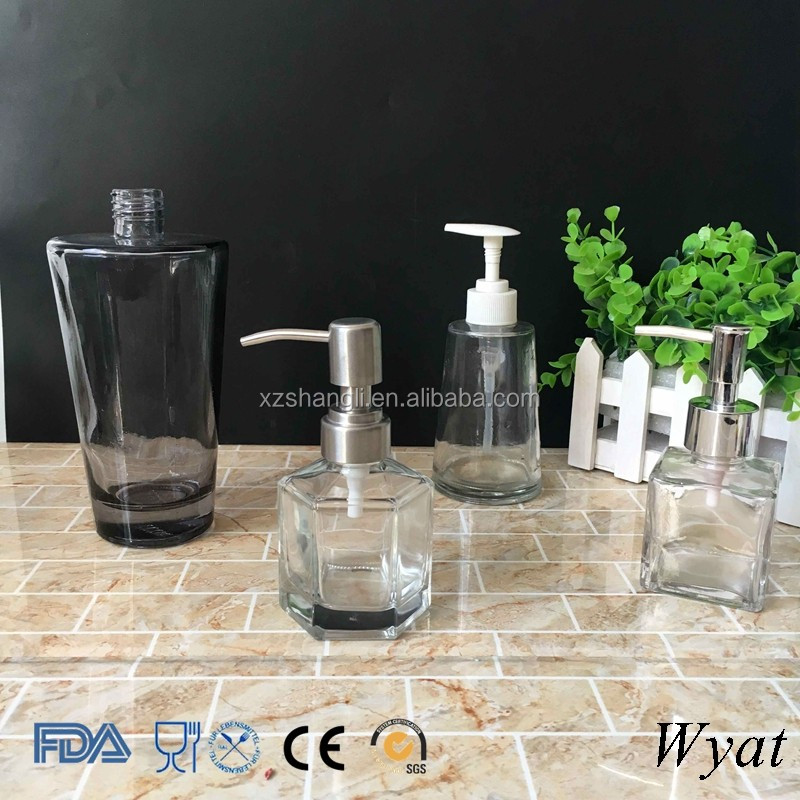 Cheap Black Coating 250ml Glass Lotion Bottles for Hand Washing