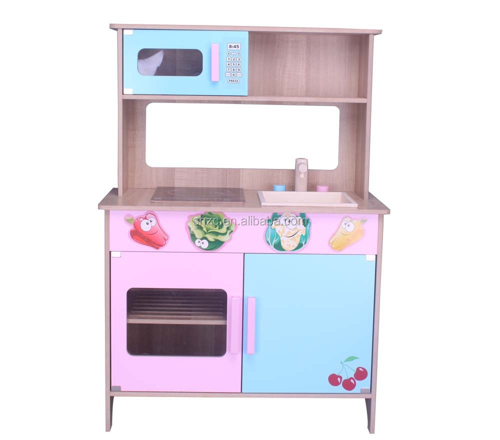 Kids commercial toys mdf commerical kids toys kitchen set for Kitchen set industrial