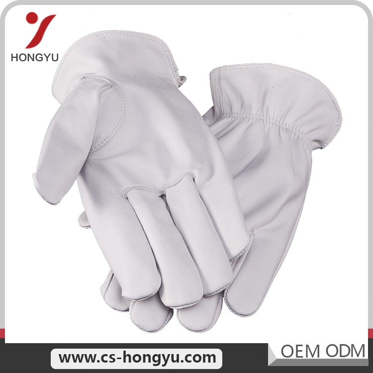 Popular design industrial long leather hand men working gloves for women