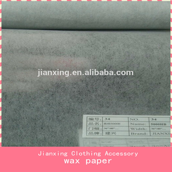 For embroidery efficiency wax paper
