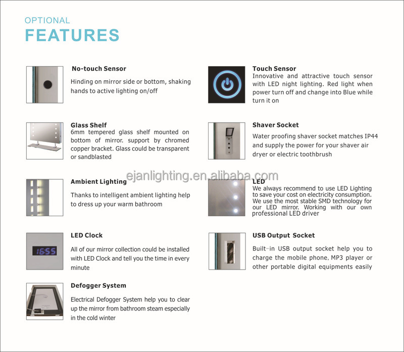 Bathroom Mirror Usb light up led bathroom mirror light with ce ul certificate - buy