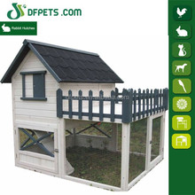 Wholesale Wooden Double decker 2 story Rabbit Hutches