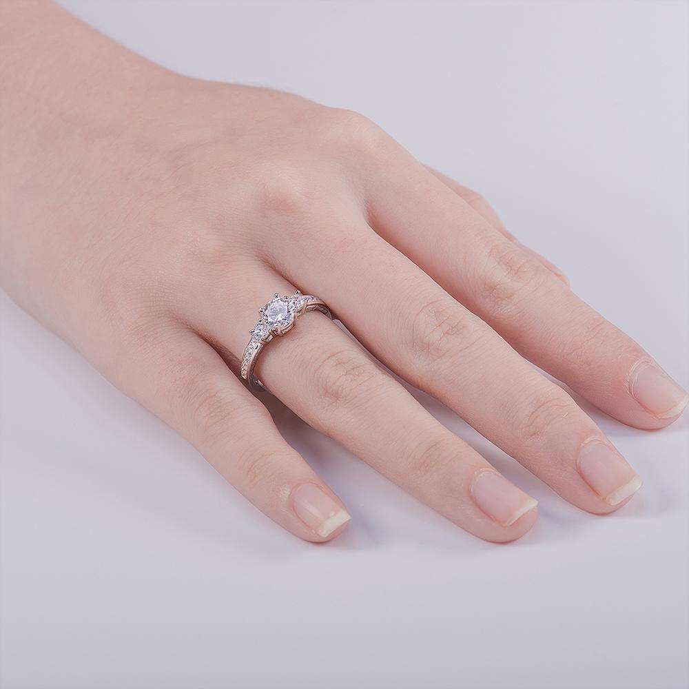 Vlove Traditional Style Women Lotus Shape 925 Silver Wedding Finger ...