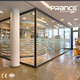 Price of aluminium used office partition glass wall