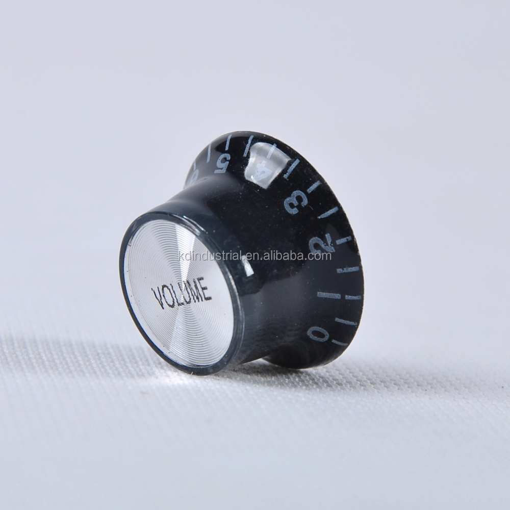 Good Price Black Bass Guitar Volume Knob For Electronic Guitar 25.5x13mm