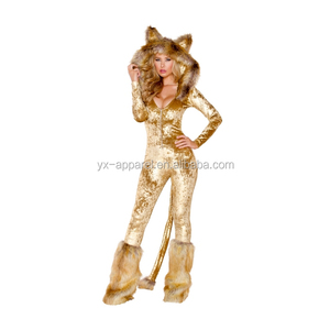 Halloween adults lion furry sexy animal costume