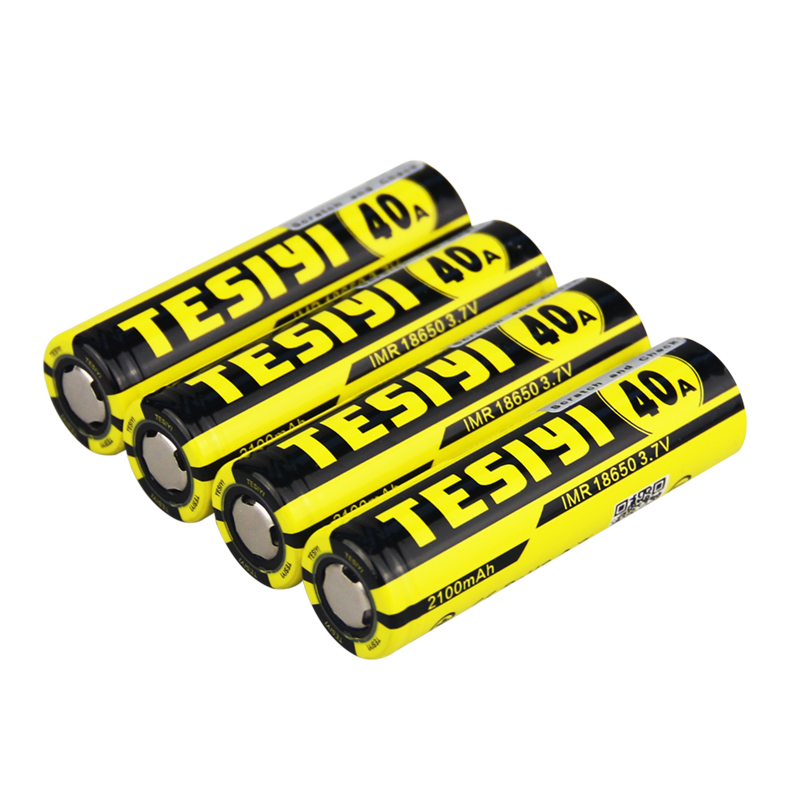 best sell and most popular tesiyi battery and charger high rate vape batteries 18650 2100 mah 40A